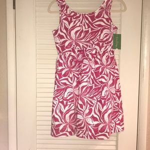 Girls pink and white lily pulitzer dress